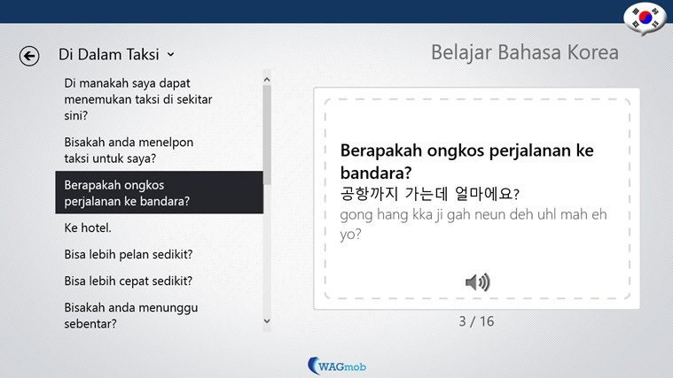 Belajar Bahasa Korea-Buku Frase screen shot 3