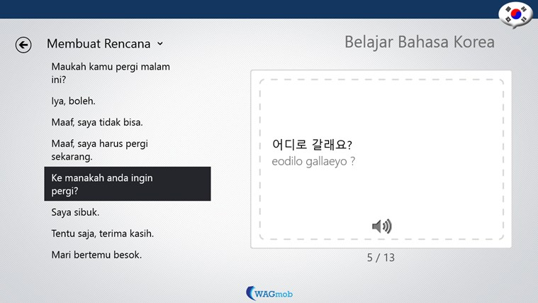 Belajar Bahasa Korea-Buku Frase screen shot 5