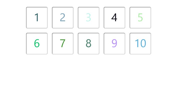 Flash Cards - Numbers 1 - 10 screen shot 1