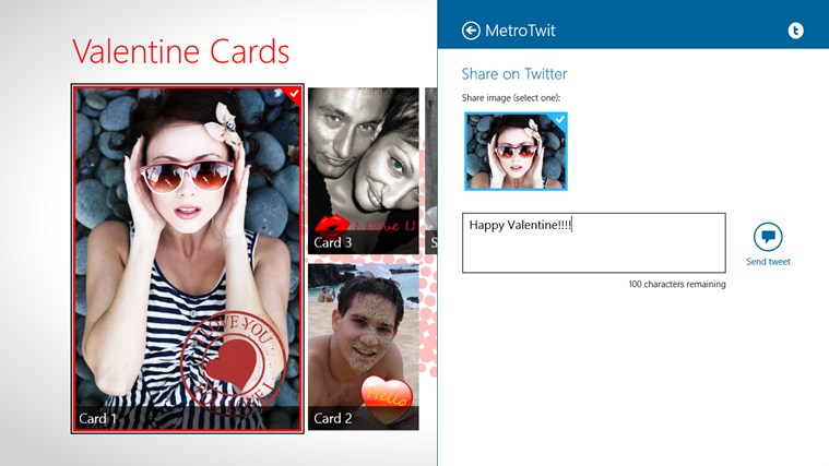 Valentine Cards screen shot 5