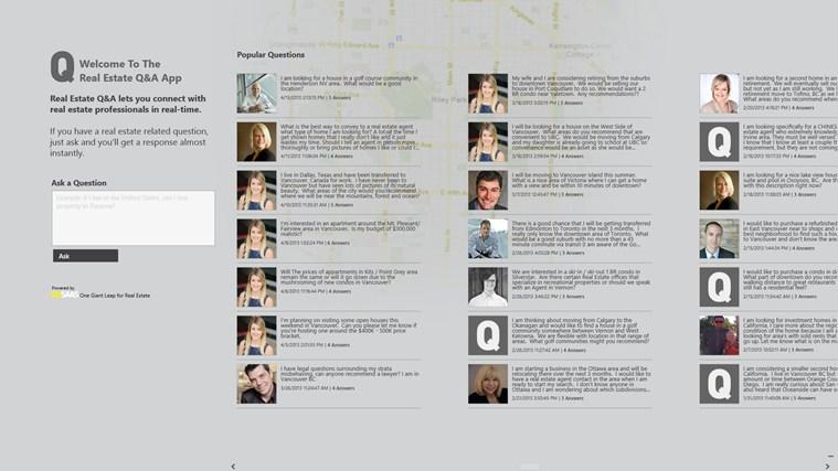 Real Estate Q&A screen shot 1