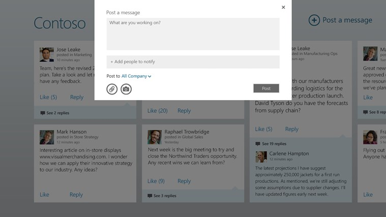 Yammer screen shot 3