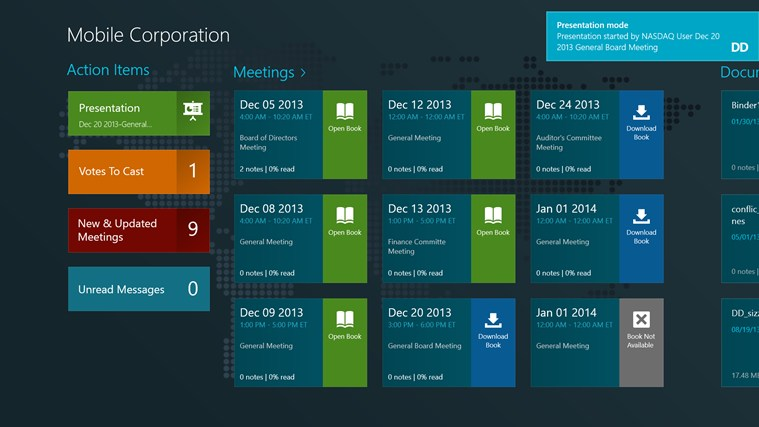 Directors Desk Windows 8 Edition screen shot 7