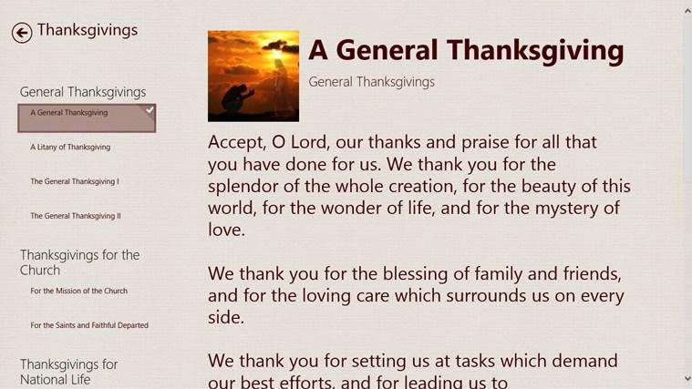 Prayers and Thanksgivings screen shot 3