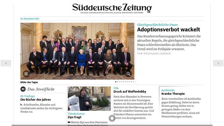 Süddeutsche Zeitung Digital Screenshot 1