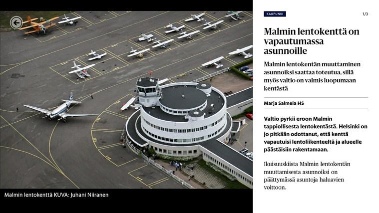 Helsingin Sanomat näyttökuva 1