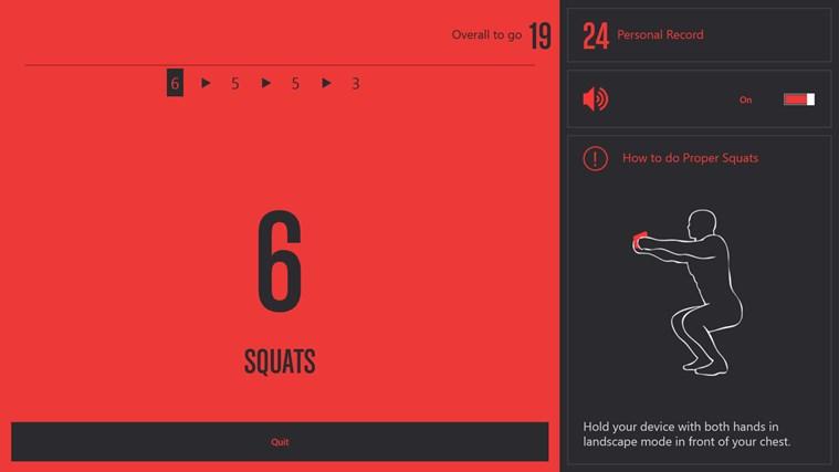 Runtastic Squats PRO screen shot 1