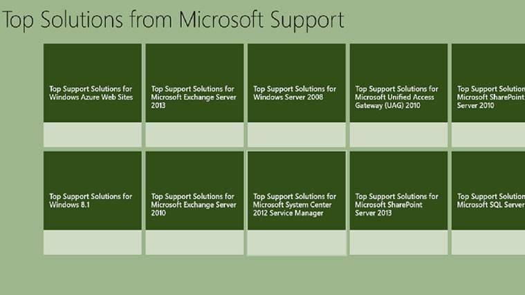 Microsoft Top Solutions screen shot 1