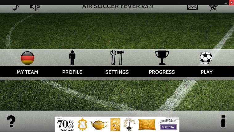 Air Soccer Fever screen shot 1
