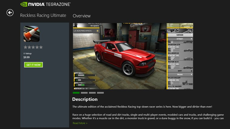 NVIDIA TegraZone screen shot 5