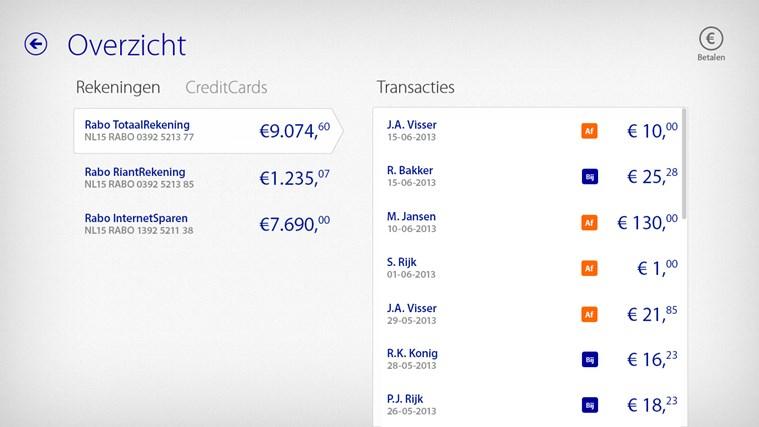 Rabo Bankieren schermafbeelding 1