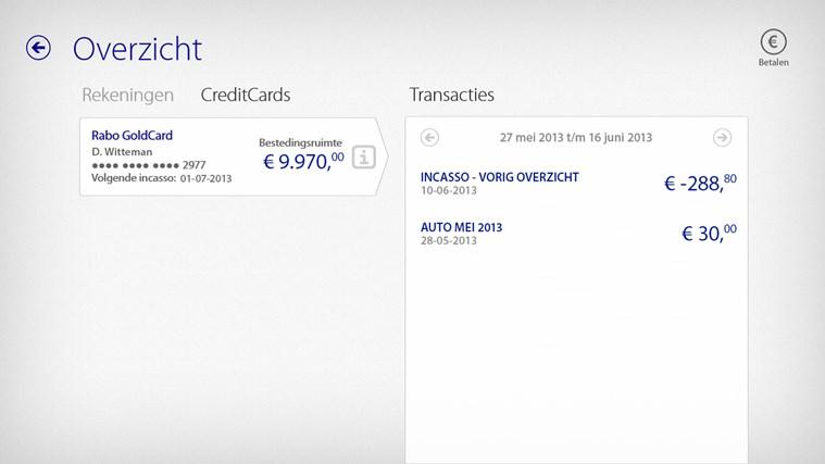 Rabo Bankieren schermafbeelding 3