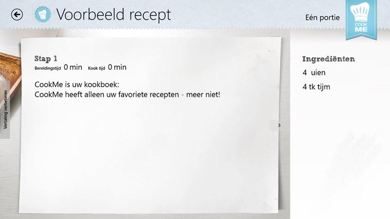 CookMe - Jouw Kookboek schermafbeelding 3