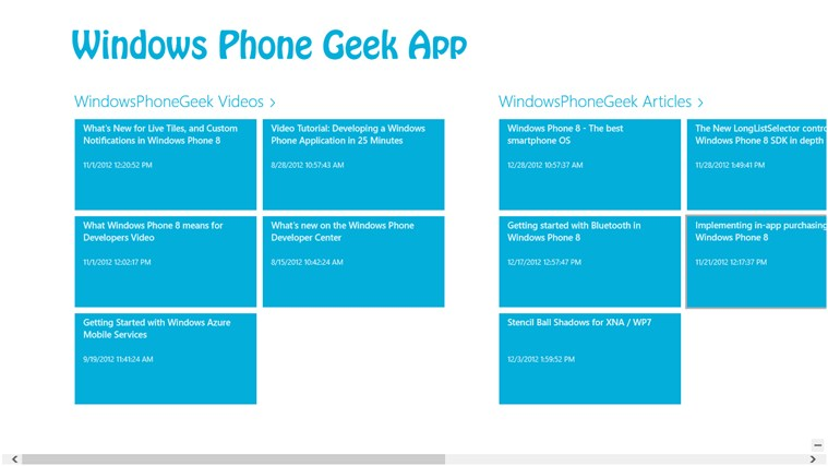 Windows Phone Geek screen shot 1