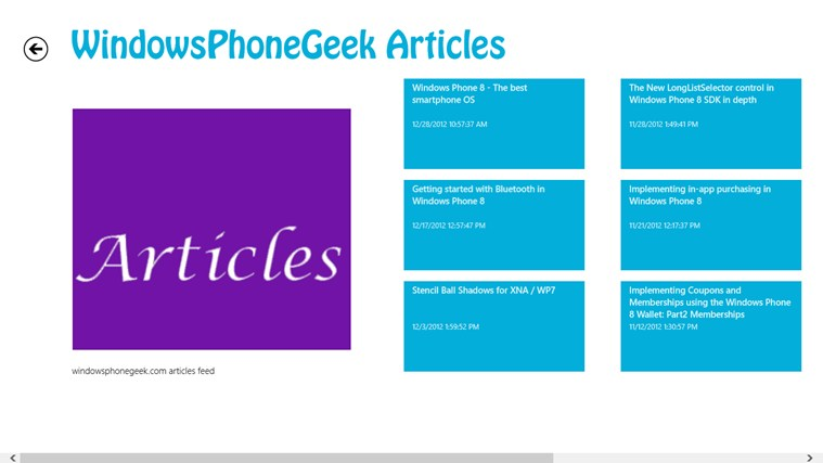 Windows Phone Geek screen shot 3