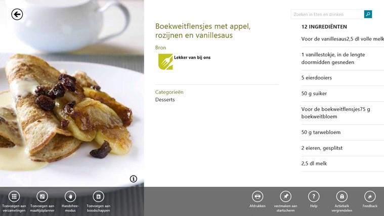 MSN eten en drinken schermafbeelding 1