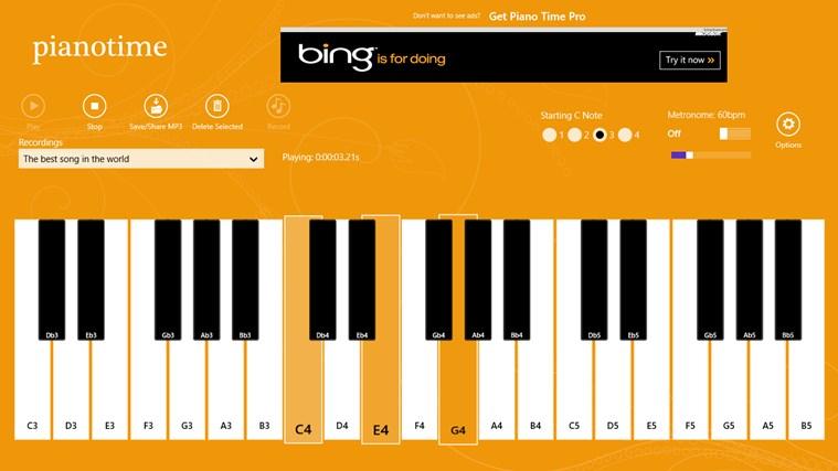 Piano Time snímek obrazovky 1