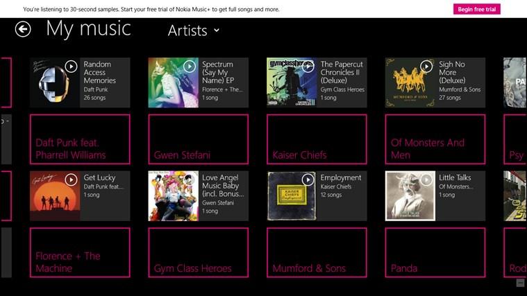 MixRadio screen shot 3