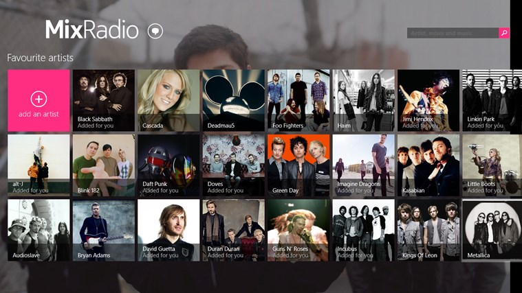 MixRadio screen shot 5
