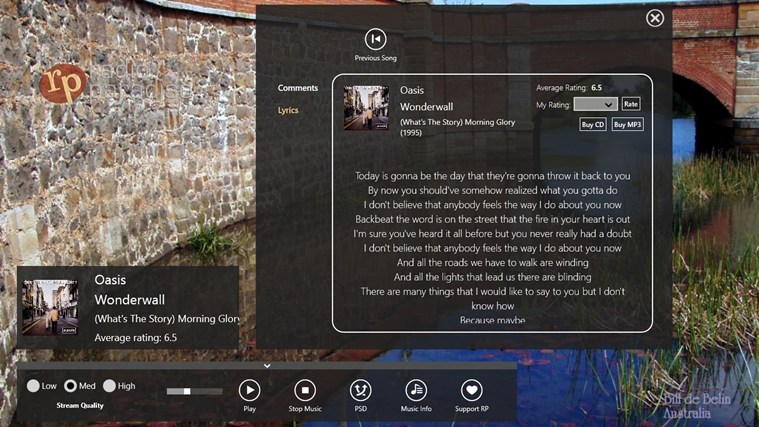Radio Paradise screen shot 3