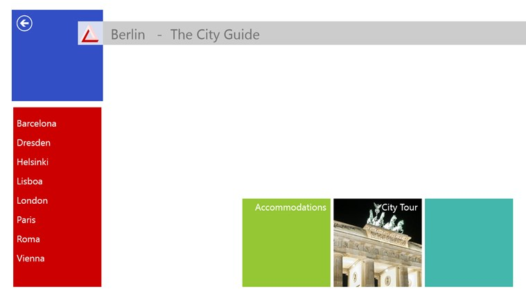 The City Guide screen shot 1