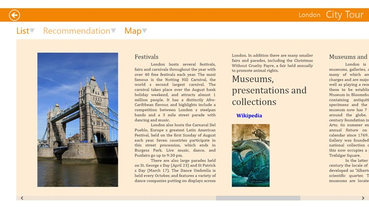 The City Guide screen shot 3