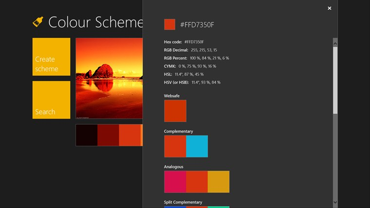 Color Scheme Creator screen shot 1