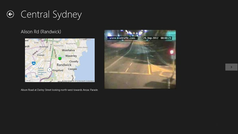 Sydney Traffic screen shot 1
