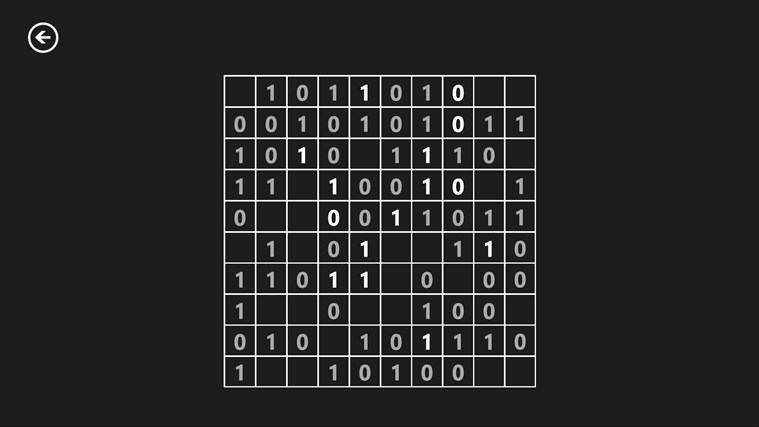 Binary Puzzle screen shot 5