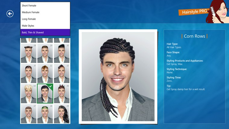 Hairstyle PRO screen shot 5