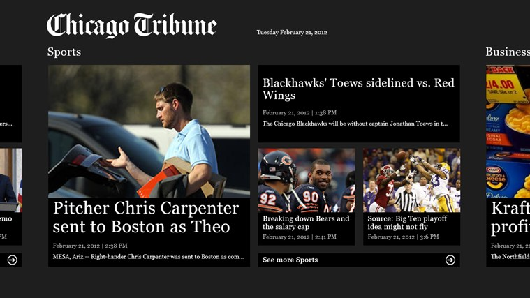 Chicago Tribune screen shot 1