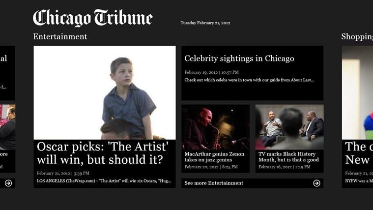Chicago Tribune screen shot 3