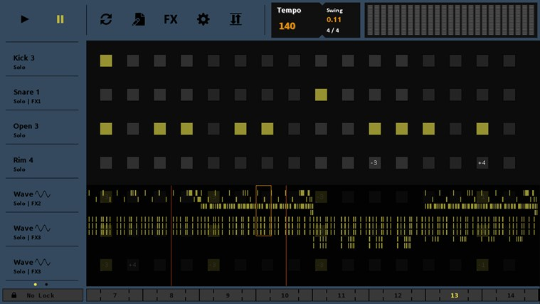 Sequencer screen shot 1