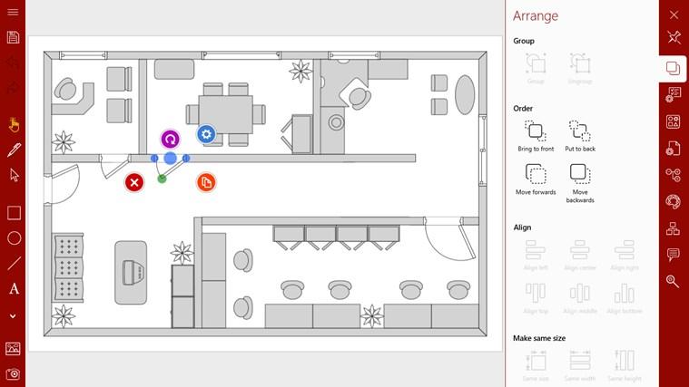 Grapholite - Diagrams, Flow Charts and Floor Plans Designer screen shot 5