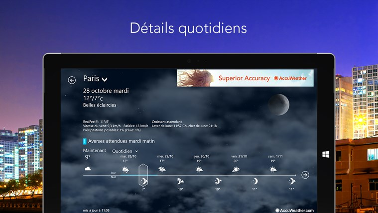 AccuWeather for Windows 8 capture d'écran 1
