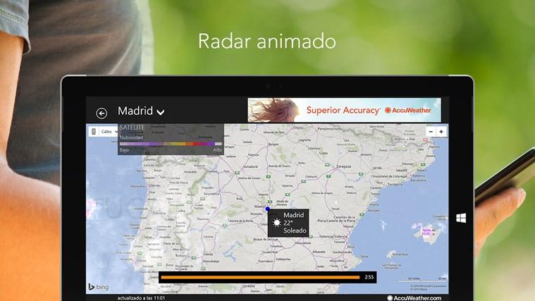 AccuWeather for Windows 8 captura de pantalla 3