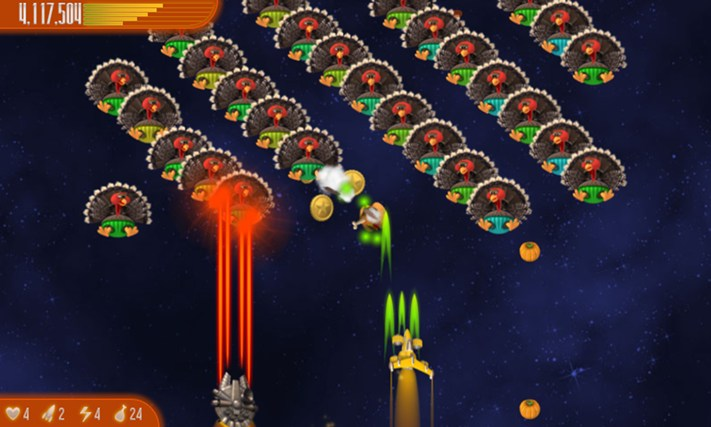 Chicken Invaders 4 Thanksgiving screen shot 3