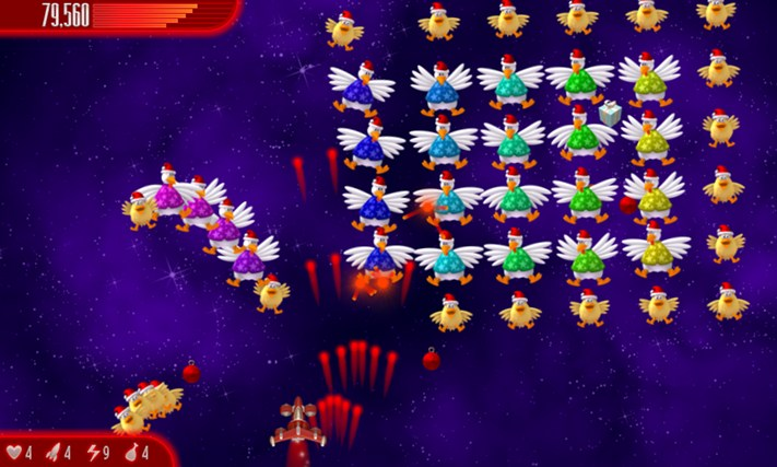 Chicken Invaders 4 Xmas screen shot 1
