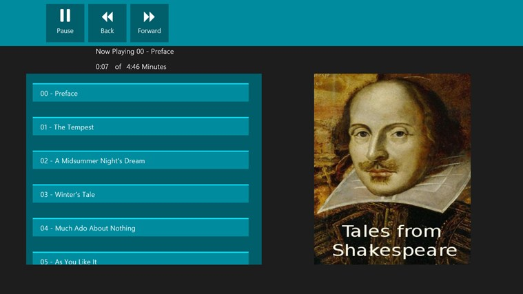 Tales from Shakespeare - Audio Book screen shot 1