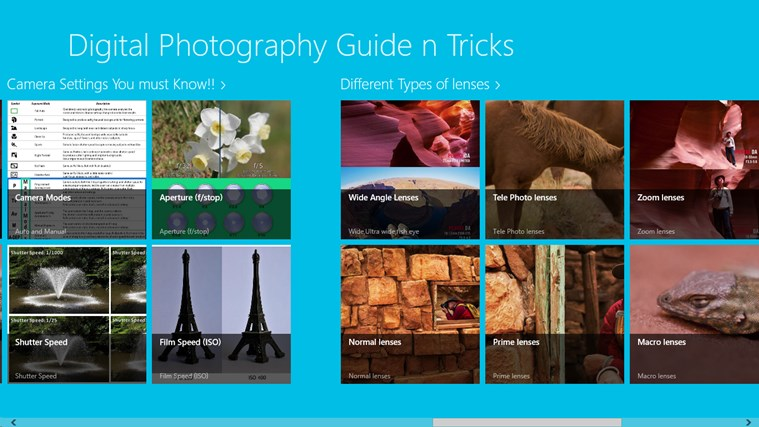 Digital Photography Guide n Tricks screen shot 1