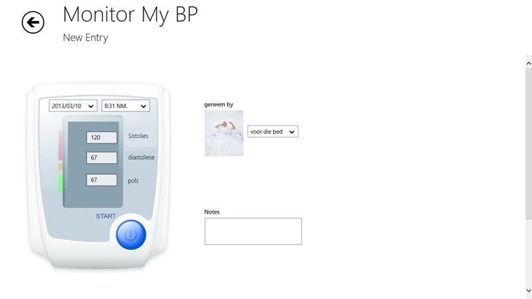Monitor My BP snímek obrazovky 1