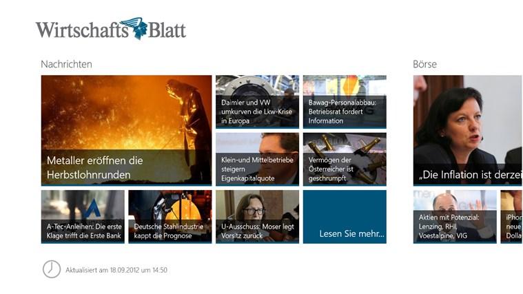 Wirtschaftsblatt Screenshot 1