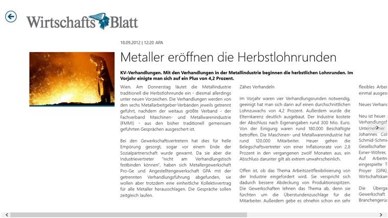 Wirtschaftsblatt Screenshot 3