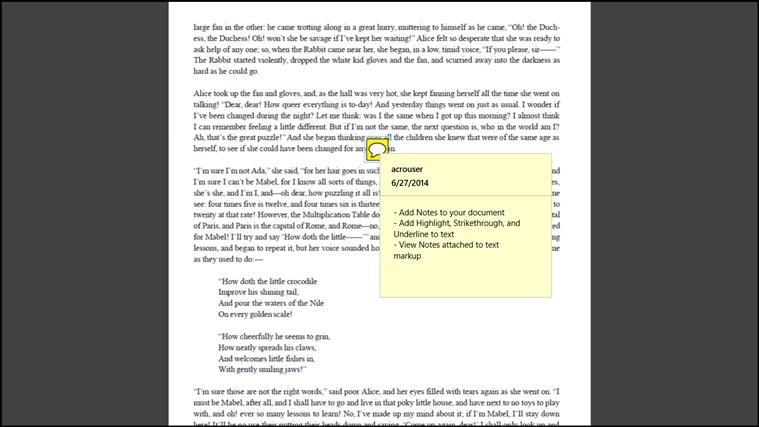 Adobe Reader Touch screen shot 5
