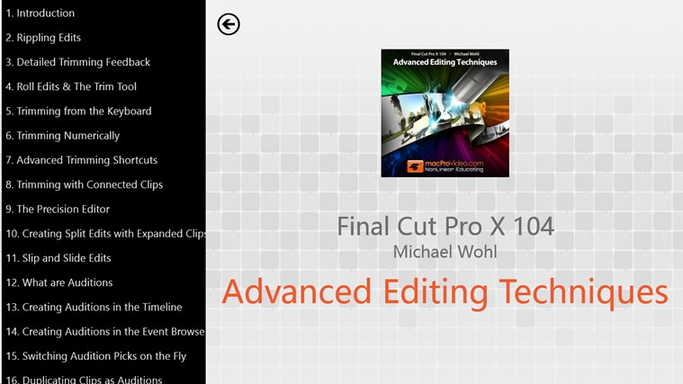 Final Cut Pro X 104 - Advanced Editing Techniques captura de pantalla 1