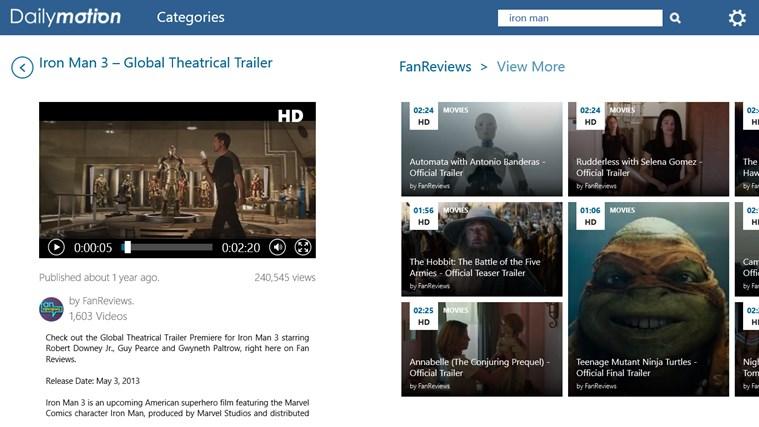 Dailymotion capture d'écran 7