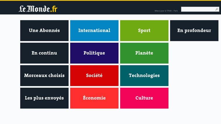 Le Monde.fr capture d'écran 3