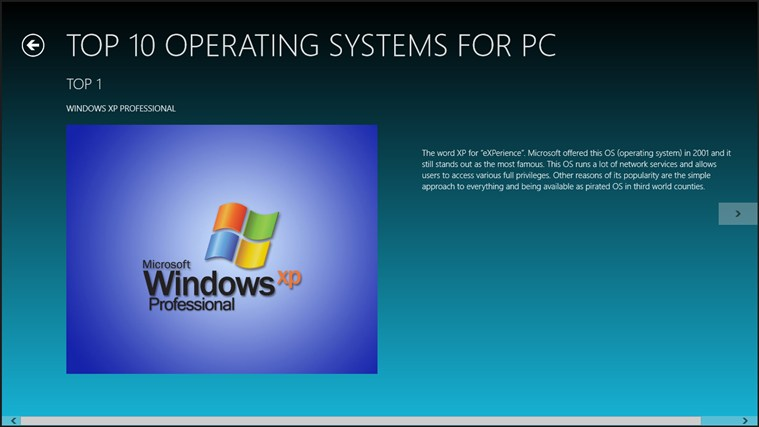 windows xp operating system essay Windows xp: why it won't die for years to come which means the decade-old operating system will that might be a windows xp pc running a security system.
