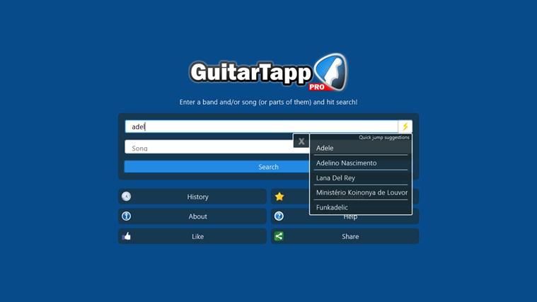 GuitarTapp Pro schermafbeelding 1
