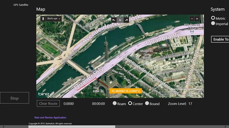 GPS Satellite screen shot 1